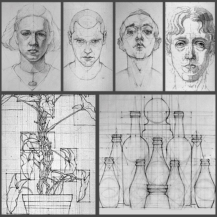 myron barnstone analytica drawings