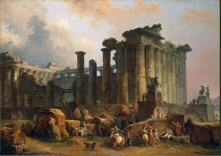 robert_hubert-zzz-ruins_of_a_doric_temple